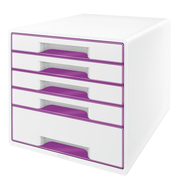 Drawers Leitz Wow Cube 5 Drawer Purple