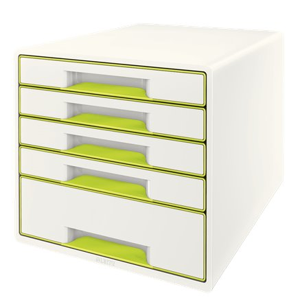 Drawers Leitz Wow Cube 5 Drawer Green