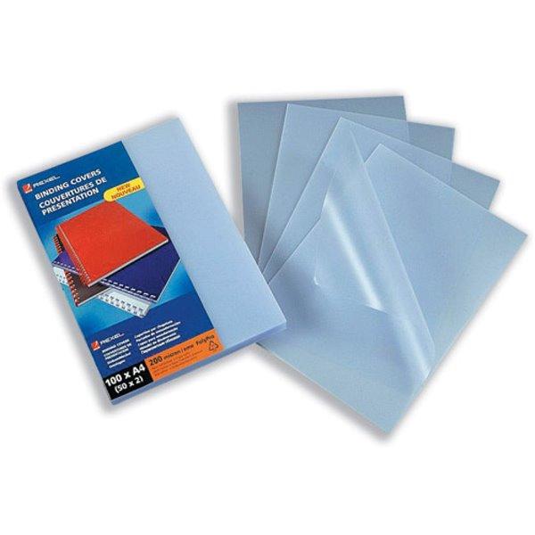 GBC Binding Covers Polyprop A4 200mi Clear 2100536E (PK100)