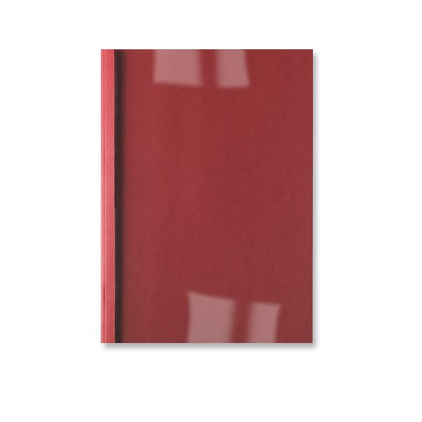 GBC A4 Thermal Binding Covers 1.5mm Leathergrain Red PK100