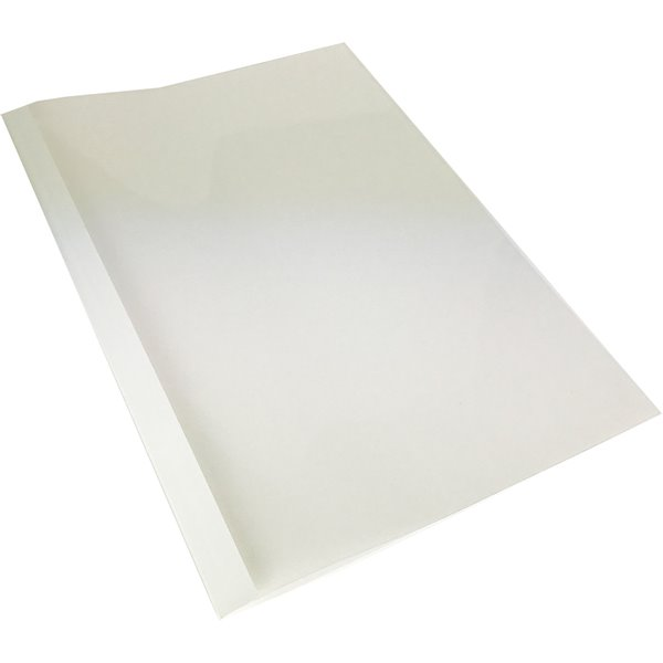 Thermal Bind Covers GBC A4 Thermal Bind Covers 3mm Front Clear Back White PK100