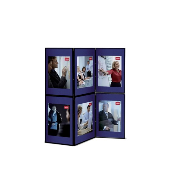 Display Panels Nobo Showboard 6 Panel Display Blue and Grey