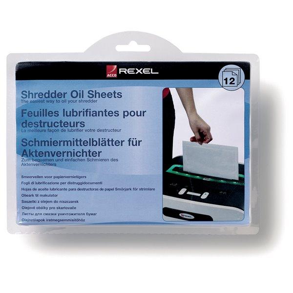 Oil Rexel Shredder Oil Sheets 2101948 (PK12)