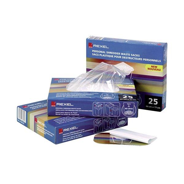 Bags / Sacks Rexel Shredder Waste Sacks for AS3000 (Pack of 100)
