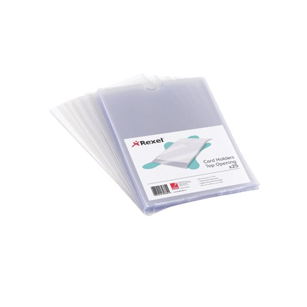 Rexel Nyrex Card Holders 127x65mm PK25