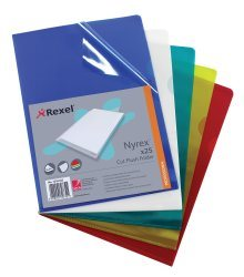 Rexel Nyrex Folder Cut Flush A4 Yellow 12161YE (PK25)