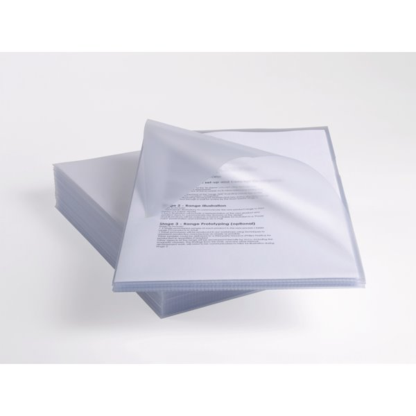 Rexel Anti Slip Cut Flush Folders A4 Clear 2102211 (PK25)