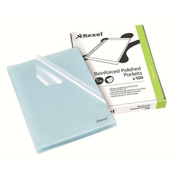 Rexel Cut Flush Folder A4 Clear (PK100)