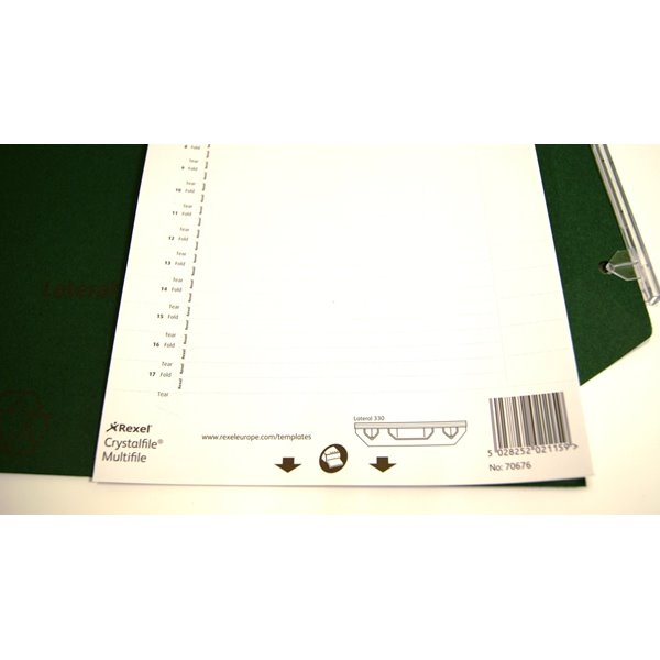 Inserts Rexel Crystalfile Lateral 330 Inserts White Pack of 25
