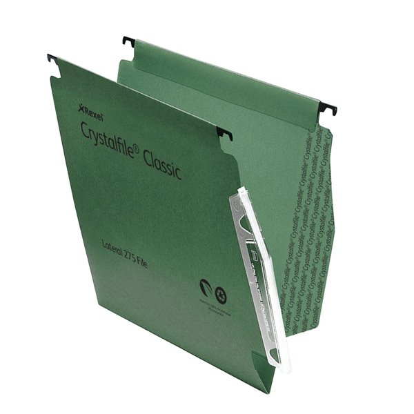 Lateral Files Rexel Crystalfile Classic Lateral File Green V Base PK50
