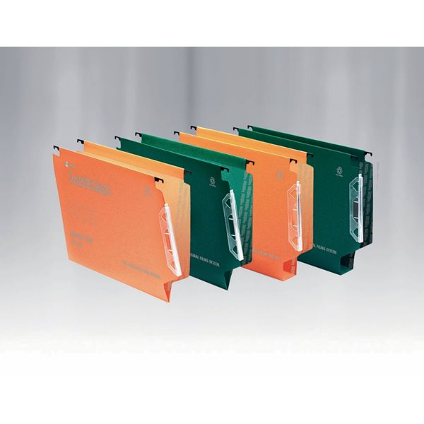 Lateral Files Rexel Crystalfile Classic 330 Lateral File 30mm Green PK25