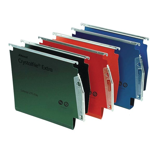 Lateral Files Twinlock Crystalfile Extra Lateral Susp File Blue BX25