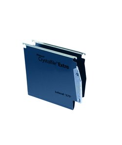 Lateral Files Rexel Crystalfile Extra Lateral File 275 PP 50mm Blue PK25