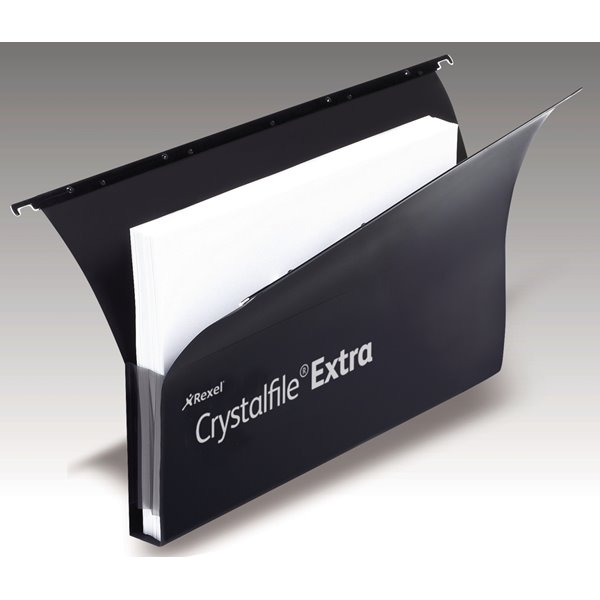 Lateral Files Crystalfile Extra Secura 30mm Fscap Susp Files Black BX20
