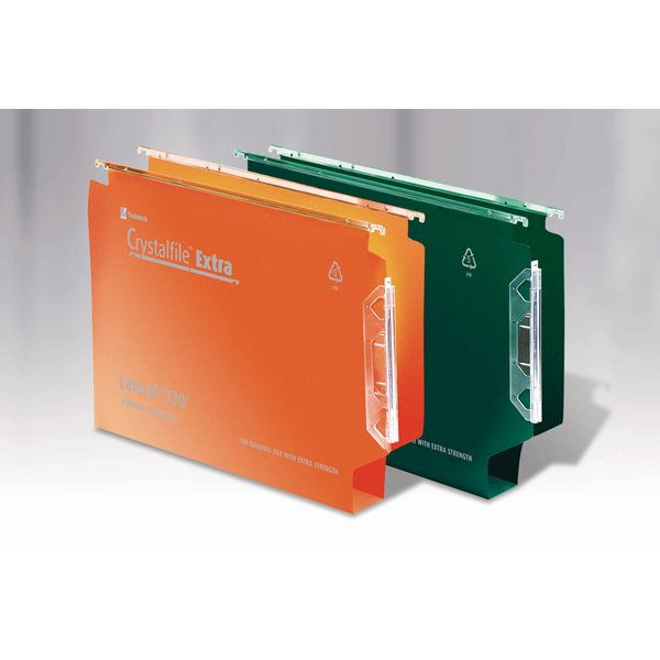 Lateral Files Crystalfile Extra Lateral File PP 30mm 330mm Green BX25