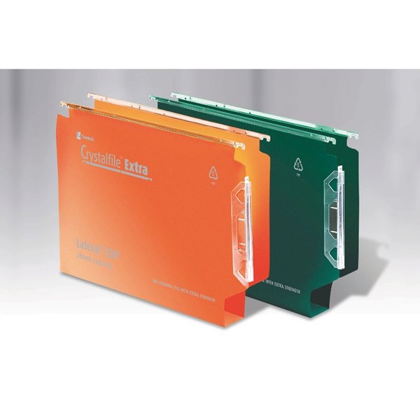 Lateral Files Crystalfile Extra Lateral 330 30mm Capacity Orange BX25
