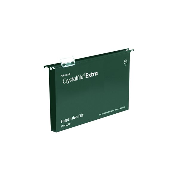 Lateral Files Twinlock Crystalfile Extra PP Susp File A4 30mm GN BX25