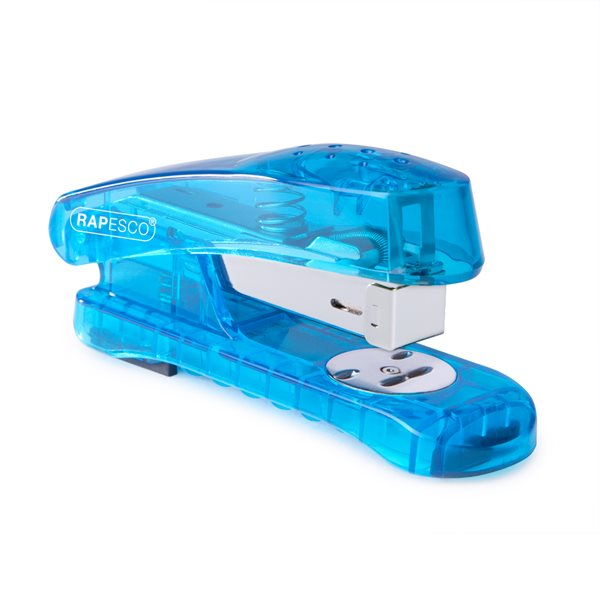 Long Arm Staplers Rapesco Snapper Sea-Thru Half Strip Stapler Blue