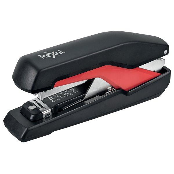 Long Arm Staplers Rexel Supreme Omnipress Full Strip Stapler S060 Black/Red