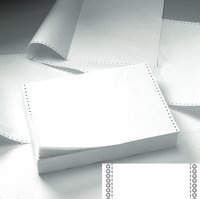 Listing Paper 11inx241mm 60g Plain Microperforated BX2000