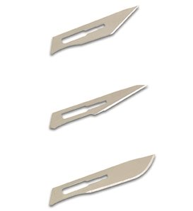 Swordfish Pro Scalpel No. 3 Handle with 4 Blades