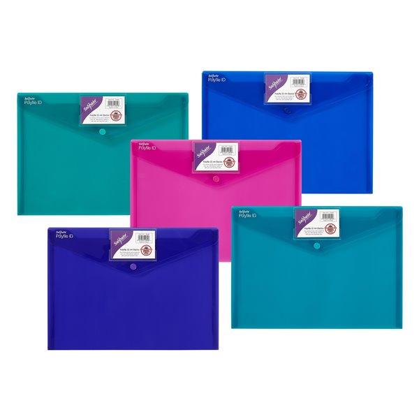 Zip Bags Snopake Polyfile ID Wallet File A4 Electra Astd PK5