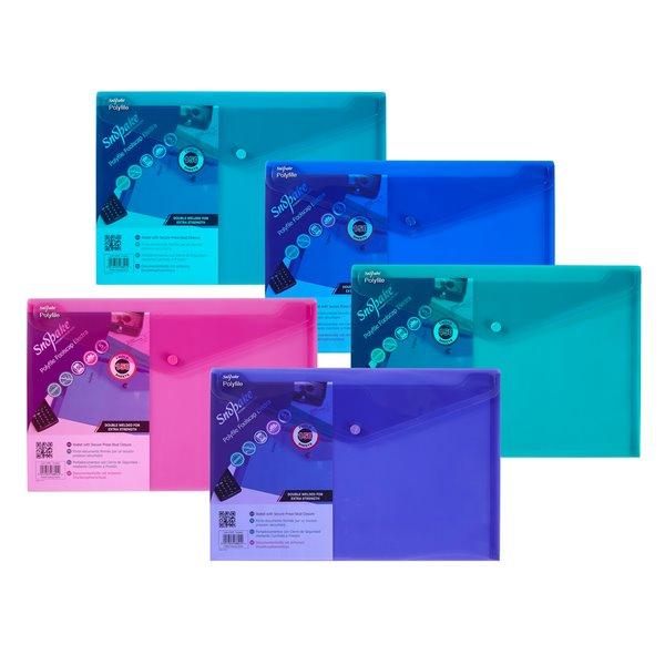 Popper Wallets Snopake Polyfile Wallet File Foolscap Electra Astd PK5