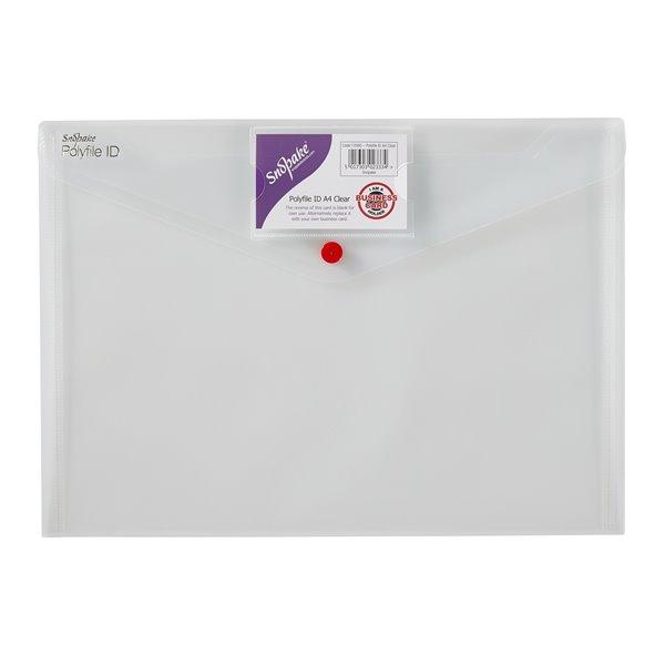 Zip Bags Snopake Polyfile ID Wallet File A4 Clear PK5