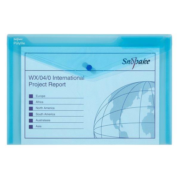 Popper Wallets Snopake Polyfile Wallet File Foolscap Blue PK5