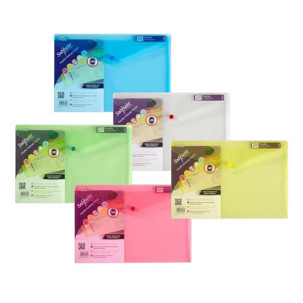 Popper Wallets Snopake Polyfile Wallet File Foolscap Classic Astd PK5