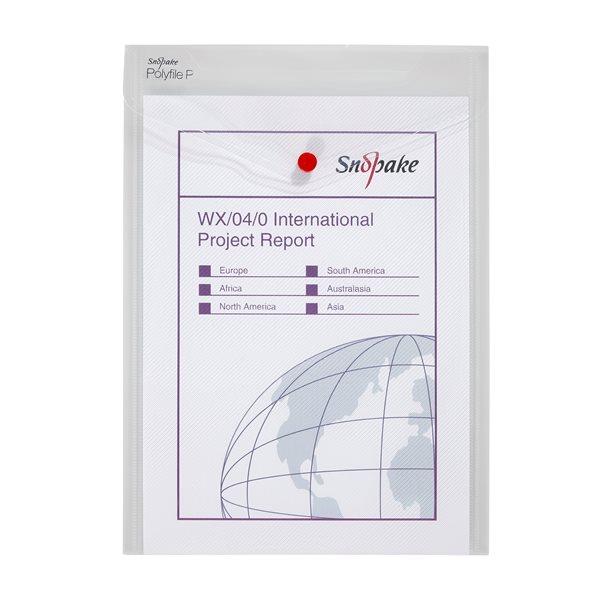 Zip Bags Snopake Polyfile Portrait Wallet File A4 Clear PK5