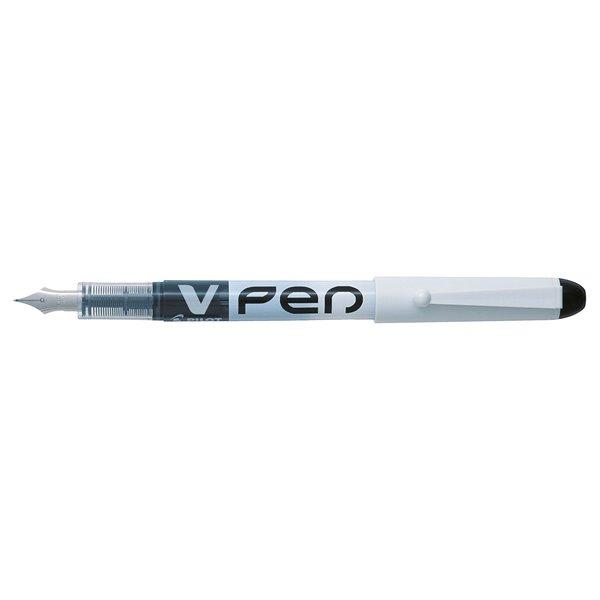 Fountain Pens Pilot V-Pen Erasable Disposable Fountain Pen Black PK12