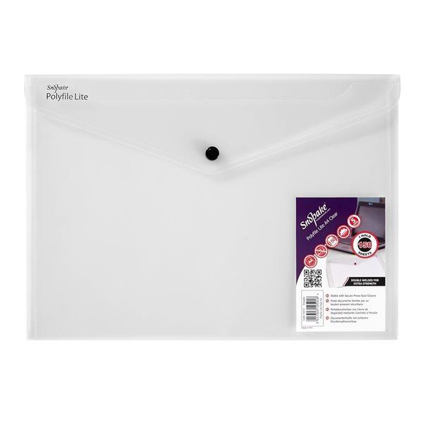 Zip Bags Snopake Lite Polyfile Wallet File A4 Clear PK5