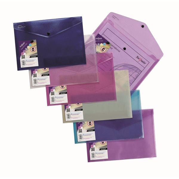 Zip Bags Snopake Lite Polyfile Wallet File A4 Astd PK5