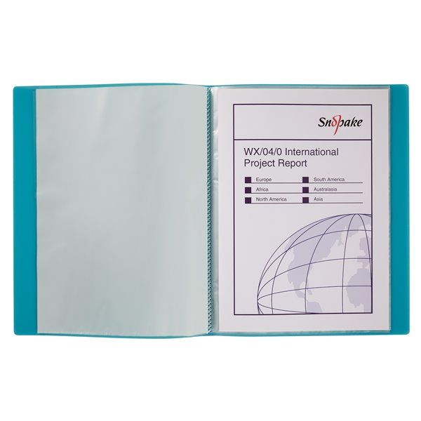 Popper Wallets Snopake Display Book 24 Pockets A4 Electra Astd PK10