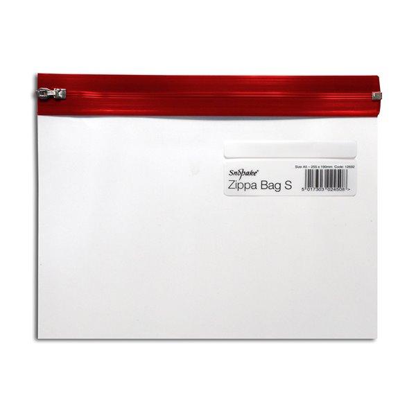 Zip Bags Snopake Zippa Bag A5 Red (Pack 25)
