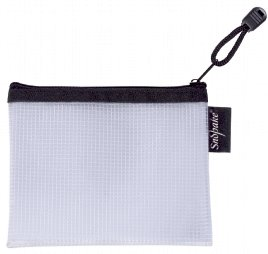Snopake EVA Mesh Zippa Bag A6 Black Pack 3