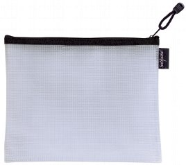 Snopake EVA Mesh Zippa Bag A5 Black Pack 3