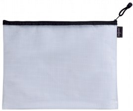 Snopake EVA Mesh Zippa Bag Foolscap Black Pack 3