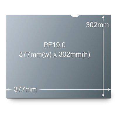 Desktop 3M PF19.0 Frameless Privacy Filter (Black) 19 inch