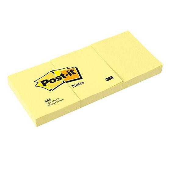 Yellow Post-it Note 38x51mm Canary Yellow PK12