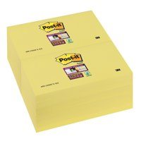 Yellow Post-it Notes 76x127mm Canary Yellow PK12