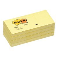 Shapes Post-it Note Recycled 38x51mm Canary Yellow PK12