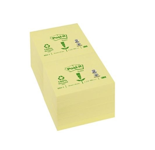 Shapes Post-it Notes 76x76mm Canary Yellow PK12
