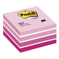 Shapes Post-it Note Cube 76x76mm Pastel Pink 2028P