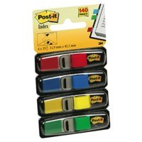 Indexes Post-it Index Flags 12mm 140 Tabs 4 Assortd Colours 683-4