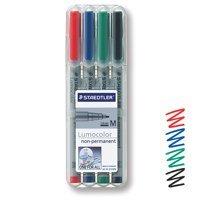 Staedtler Lumocolor OHP Pen Non-perm Med 0.8 Assorted PK4