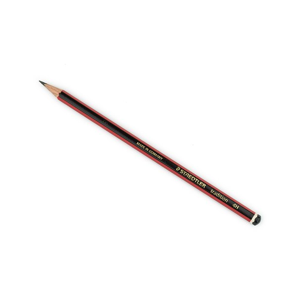 Pencils (Wood Case) Staedtler 110 Tradition 4H Pencil Black Red PK12