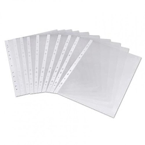Plastic Pockets Value Punched Pockets A4 Medium Weight Glass Clear PK100