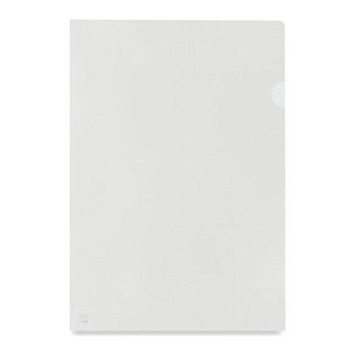 Value Cut Flush Folder Clear A4 Orange Peel Med Weight PK100